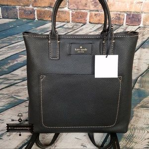 Kate spade maple street Kenzie backpack tote Black